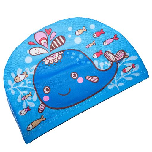 Badehette til barn - blå hval