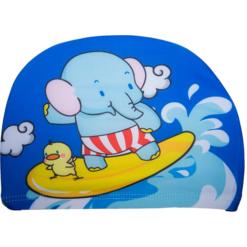 Badehette til barn - blå elefant