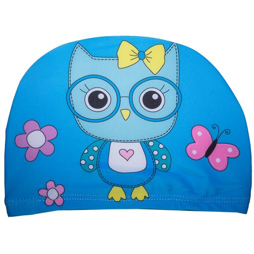 Badehette til barn - blå ugle