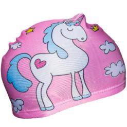 Badehette til barn - rosa unicorn