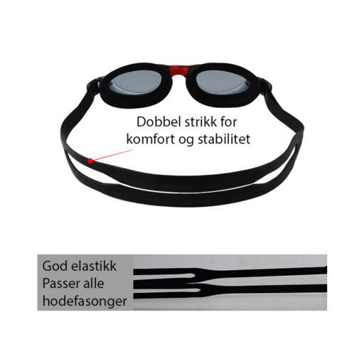 Svømmebriller barn svart - squatina.no elastikk