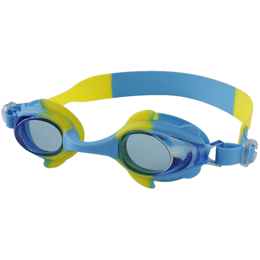 vømmebriller små barn turkis og gul