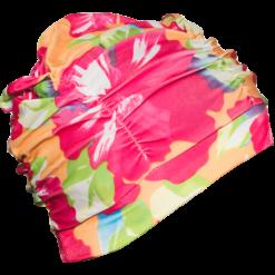 Badehette med blomst motiv